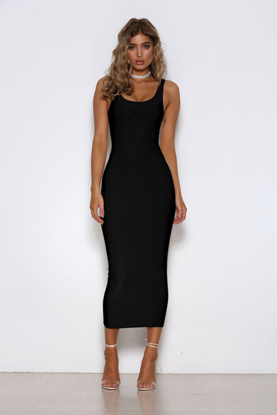 Stella Dress in Black by Shari Benjamin front