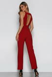 Back view of Bad AF Fashion jumpsuit, the Sophie.