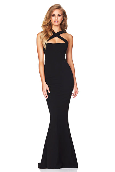 Black Viva 2 Way Gown by Nookie