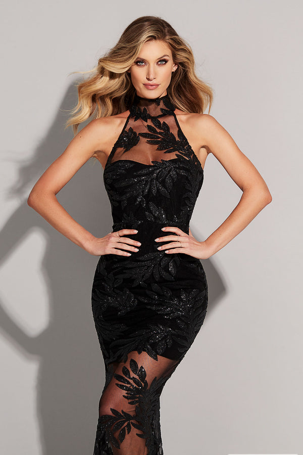 Black Vanity Halter Gown | Nookie the Label