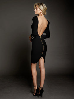 Duke n Co dress, back view of the Larissa Dress in black.