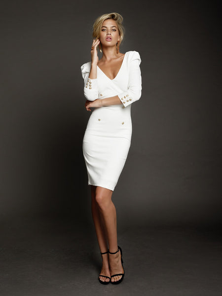 Larissa Dress in White by DUKE n co