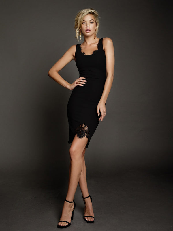 Duke n Co dress, front view of the Blaire Dress in black.
