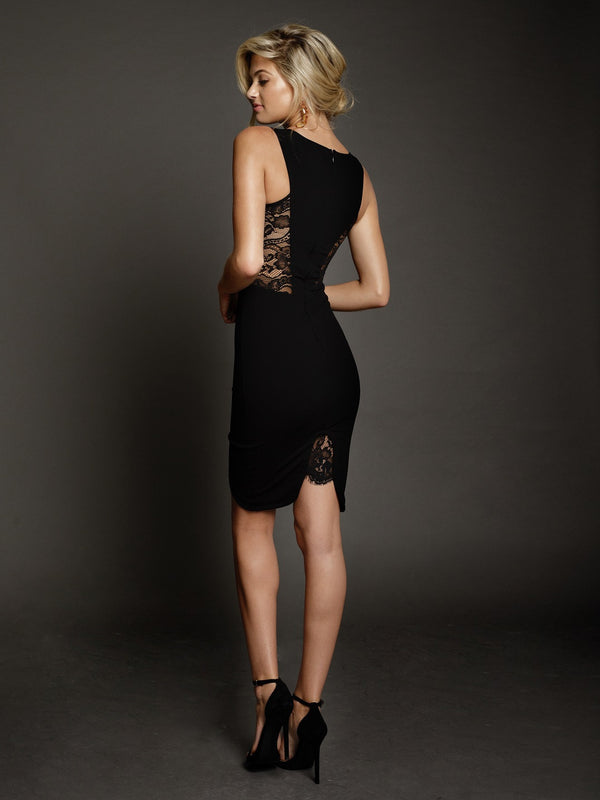 Duke n Co Dress, back view of the Blaire Dress in black.