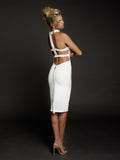 Duke n Co dress, back view of the Claire Dress in white.
