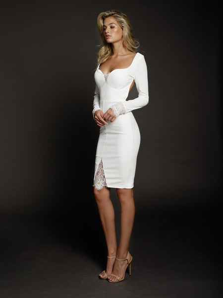 Allegra Dress in White by DUKE n co