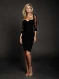 Duke n Co dress, front view of the Allesandra Dress in black.
