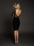 Duke n Co Dress, back view of the Allesandra Dress in black.
