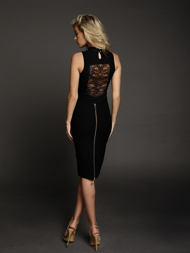 Duke n Co Dress, back view of the Carrie Dress in black.