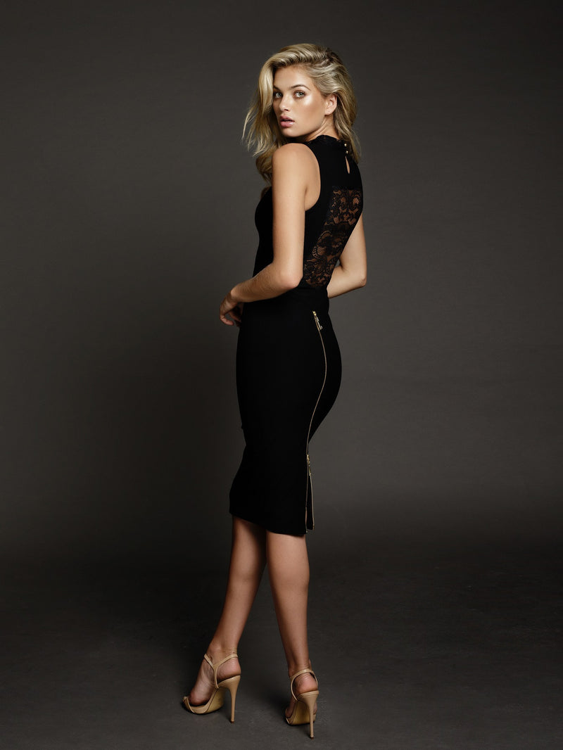 Duke n Co dress, side view of the Carrie Dress in black.