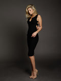 Duke n Co dress, side view of the Alexis Dress in black.