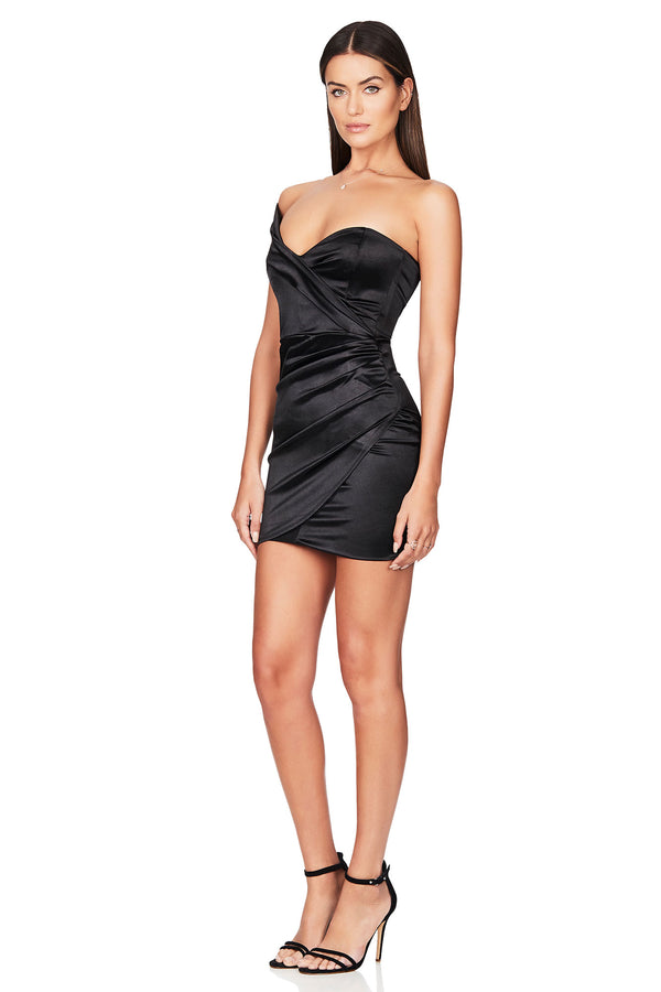 Black Zodiac One Shoulder Mini Dress | Nookie the Label
