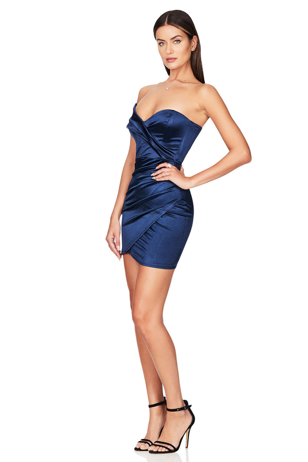 Navy Zodiac One Shoulder Mini Dress | Nookie the Label