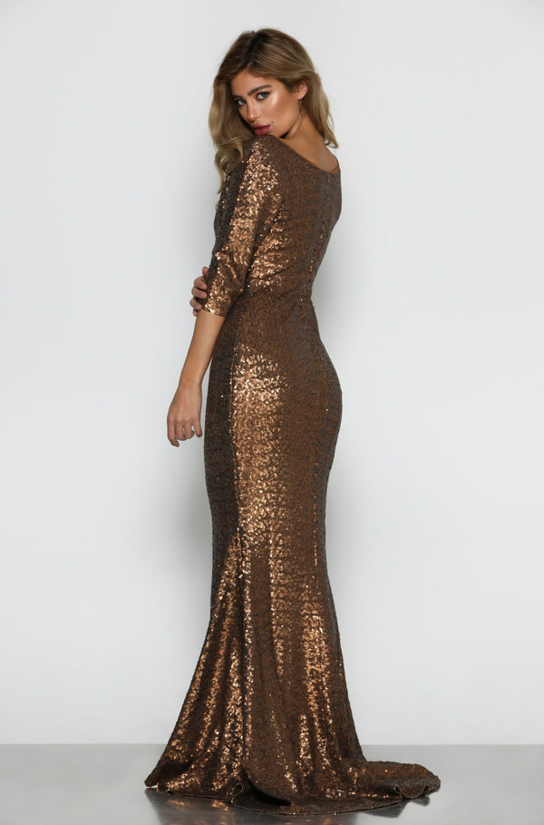 Milan Sequin Gown by Micaah Back View