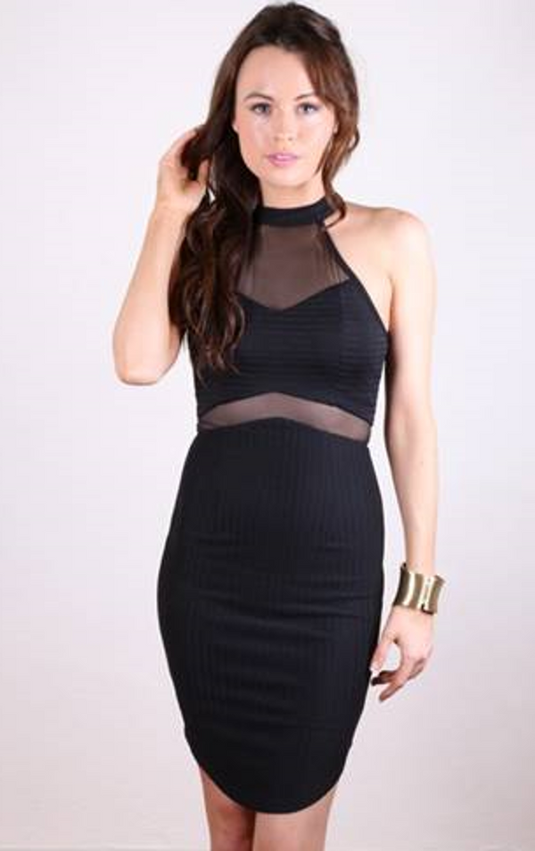 London Dress in Black by Electric Honey