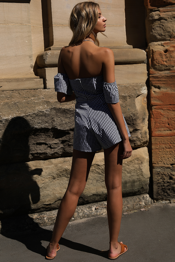 Paris Playsuit in Black by Runaway the Label back veiw