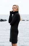 Sara Roll Neck Knit Dress by Madison Square Clothing
