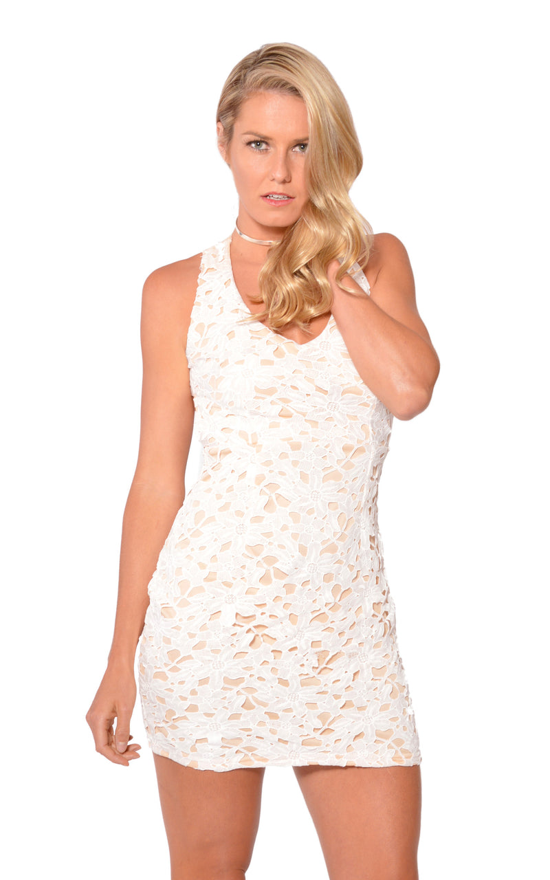 Sweet Dreams Dress in White by WoodFox