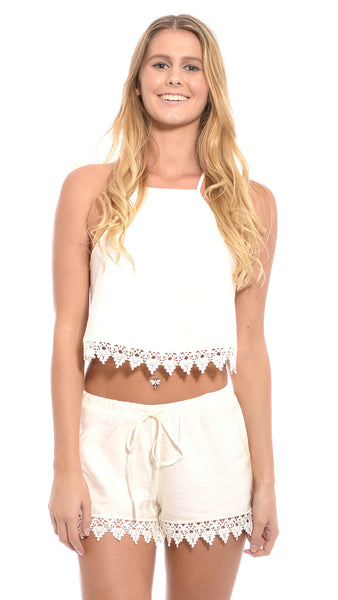 Barley Shorts in Cream by lost in alila