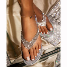 Load image into Gallery viewer, 🔥Summer promotion Only $19.99🔥Buy 2 Get Free Shipping Women's Rhinestone Flat Slippers