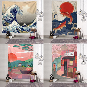 Japanese Culture Wall Tapestry