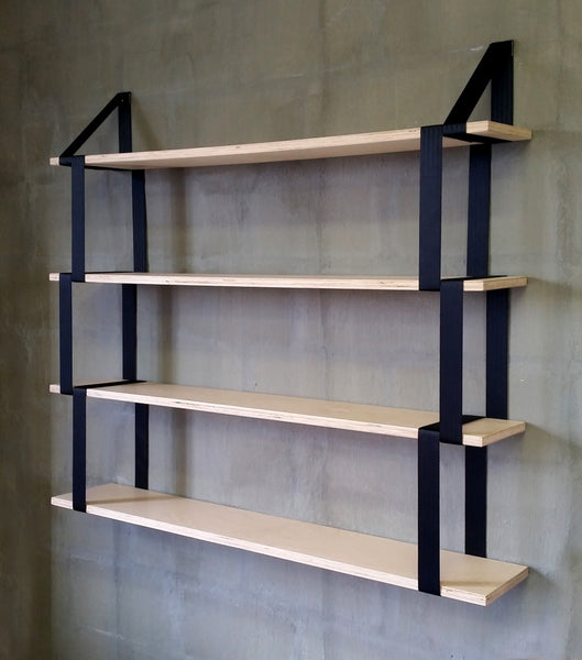4x Birch Suspender Shelves