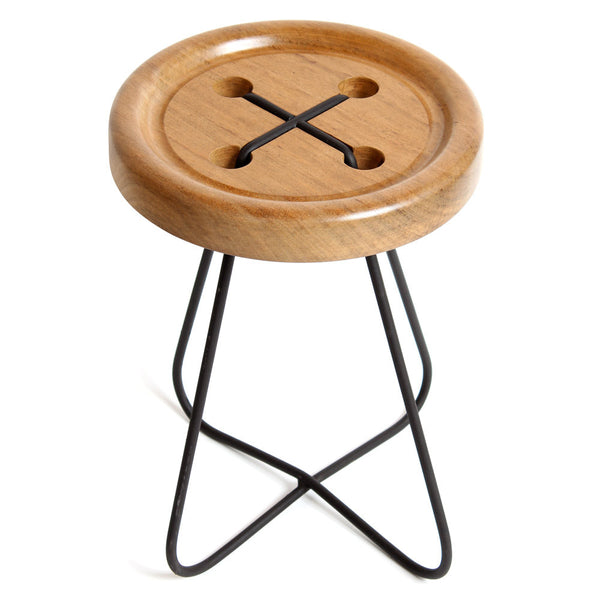 Button Stool - African Walnut