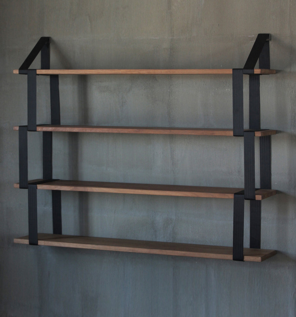 4x Iroko Suspender Shelves