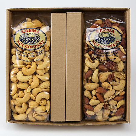 Giant Cashews & Gourmet Mixed Nut 2 Pack Gift Box