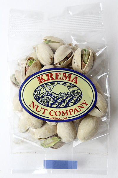 Colossal Pistachios, Dry Roasted & Salted 2 oz. Bag. Case of 24 Bags