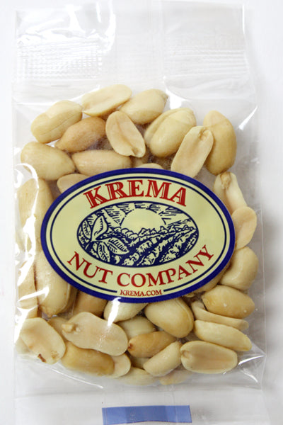 Blanched Virginia Peanuts, Roasted & Salted 2 oz. Bag. Case of 24 Bags