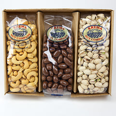 Giant Cashews, Chocolate Almonds & Colossal Pistachios 3 Pack Gift Box