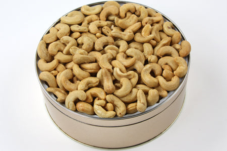 Giant Cashews Tin 40 oz. NO SALT