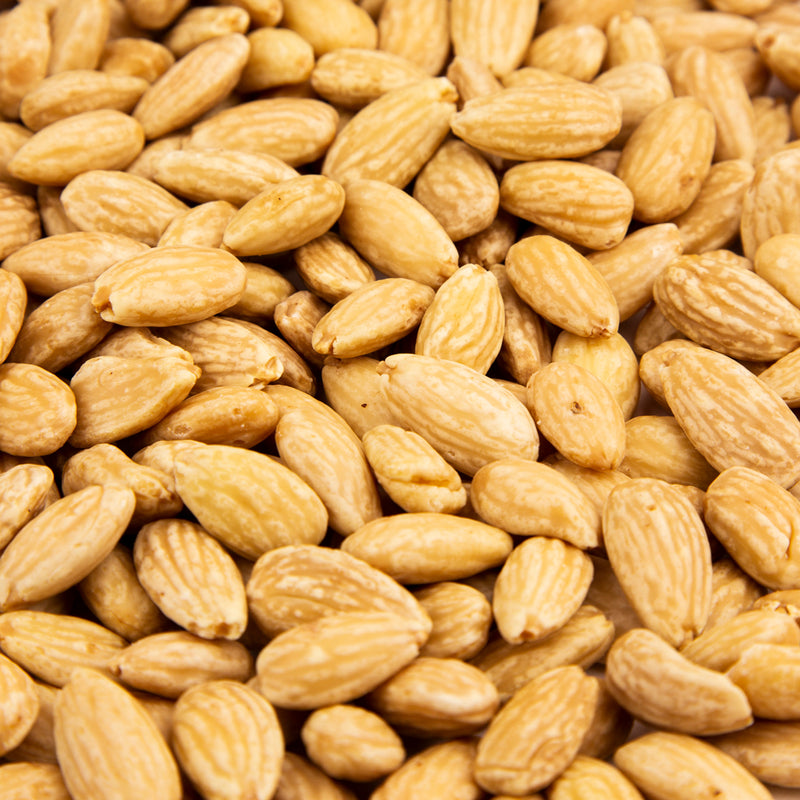 Blanched Whole Almonds Roasted, No Salt 16 oz. Bag