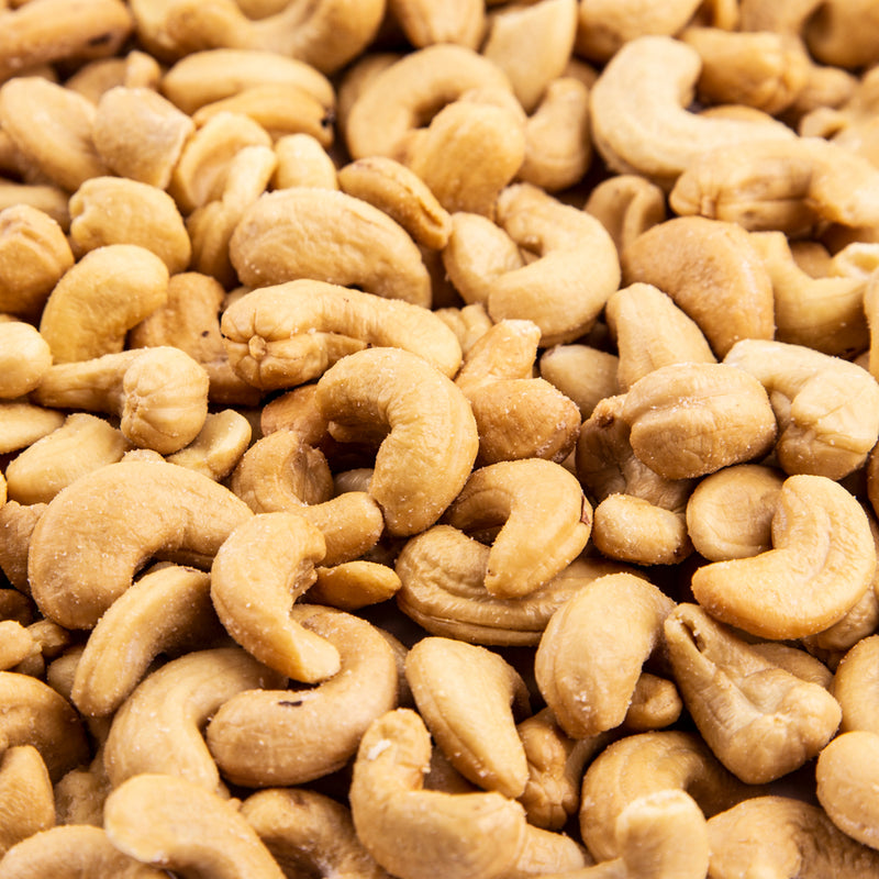 Large Cashews, Roasted & Salted (2 - 16 oz. Bags). Buy 1, Get 2nd at 1/2 Price