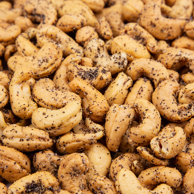 Sea Salt & Black Pepper Cashews 10 oz. Tub