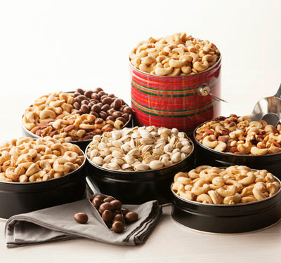 Gourmet Mixed Nuts Tin 16 oz. NO SALT