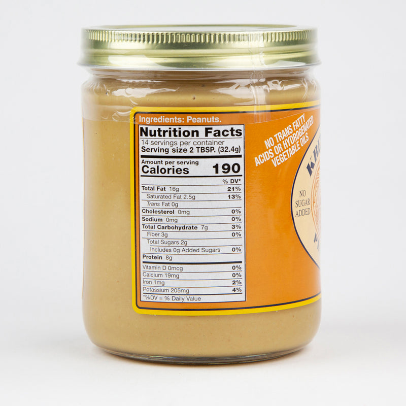6 Creamy & 6 Crunchy Assorted Natural Peanut Butter Case (12 - 16 oz. Jars)