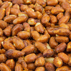 Hot Redskin Peanuts - 20 LB. Case