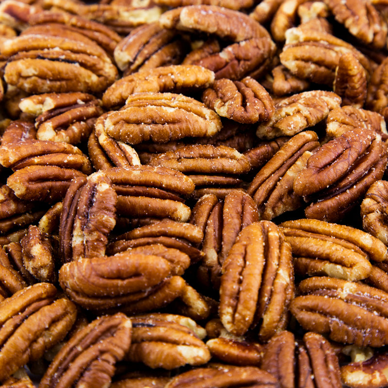 Pecan Halves, Roasted & Salted - 20 LB. Case