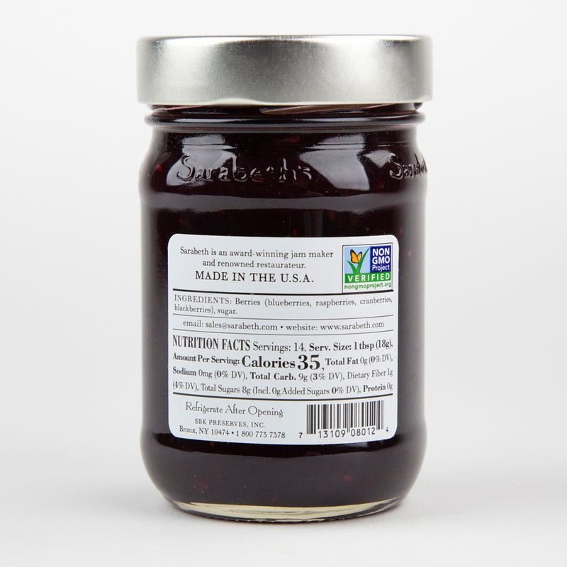 Sarabeth's Mixed Berry Fruit Spread 9 oz. Jar