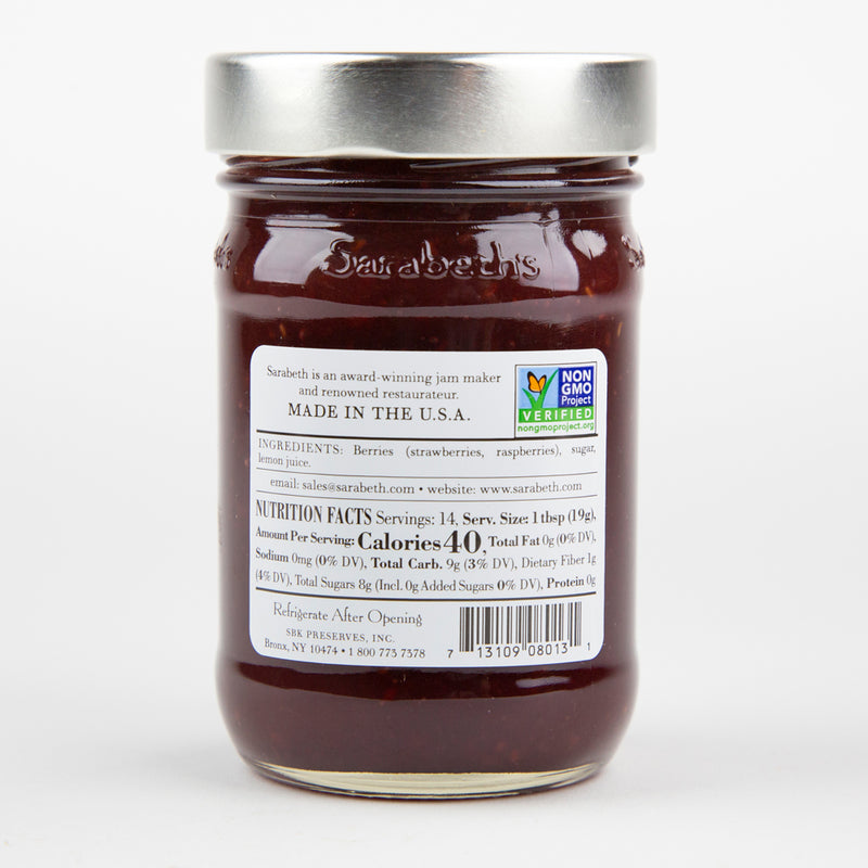 Sarabeth's Strawberry Raspberry Fruit Spread 9 oz. Jar