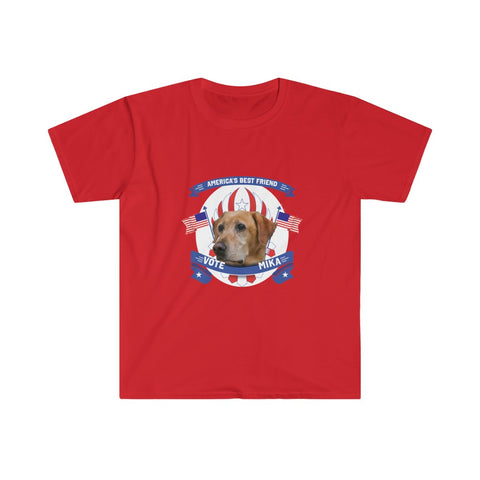 VOTE MIKA! America's Best Friend - Men's Fitted Short Sleeve Tee