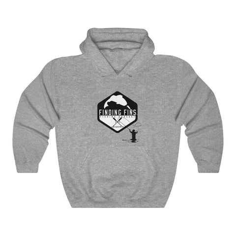 Finding Fins - Man Casting - Unisex Heavy Blend™ Hooded Sweatshirt