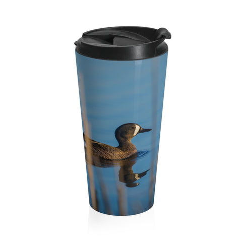 Stainless Steel Travel Mug - Drake Blue-Winged Teal