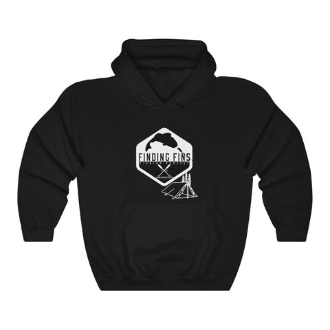 Finding Fins Camping Hoodie - Unisex Heavy Blend™ Hooded Sweatshirt