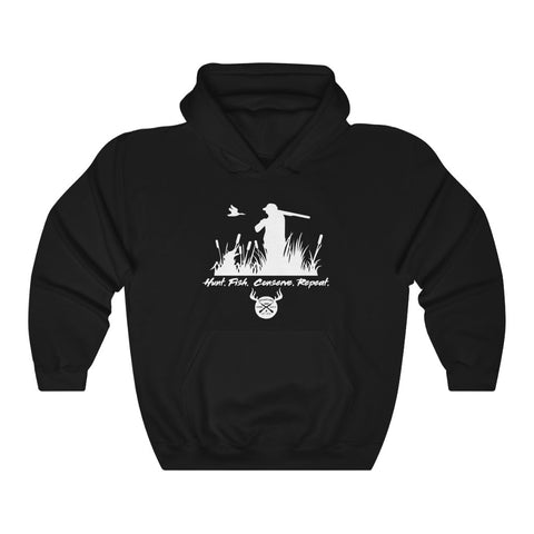 Hunt, Fish, Conserve, Repeat. Unisex Heavy Blend™ Hooded Sweatshirt