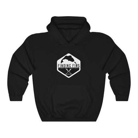 Finding Fins Logo - Unisex Heavy Blend™ Hooded Sweatshirt
