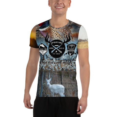 All-Over Print Men's Athletic T-shirt - Various Wildlife