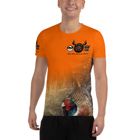 Blaze Orange Rooster - All-Over Print Men's Athletic T-shirt